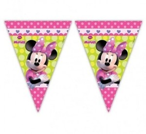 "Banner ""Minnie Bow - Tique"", flagi Minnie Mouse"