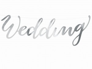 "Baner ""Wedding"" srebrny"
